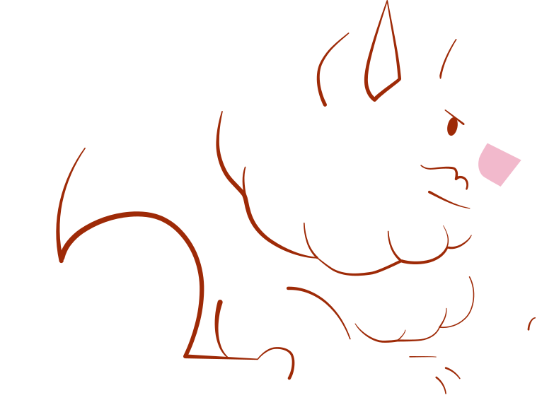 white pomeranian dog Clipart illustration in PNG, SVG