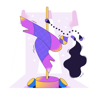 style Pole dancer images in PNG and SVG | Icons8 Illustrations