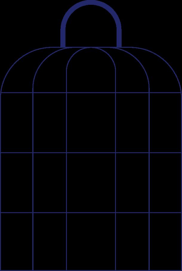 Käfig Clipart-Grafik als PNG, SVG