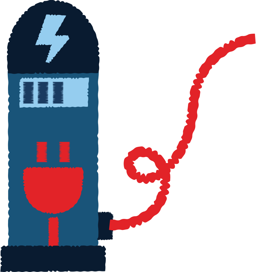 electric-car -charger Clipart illustration in PNG, SVG