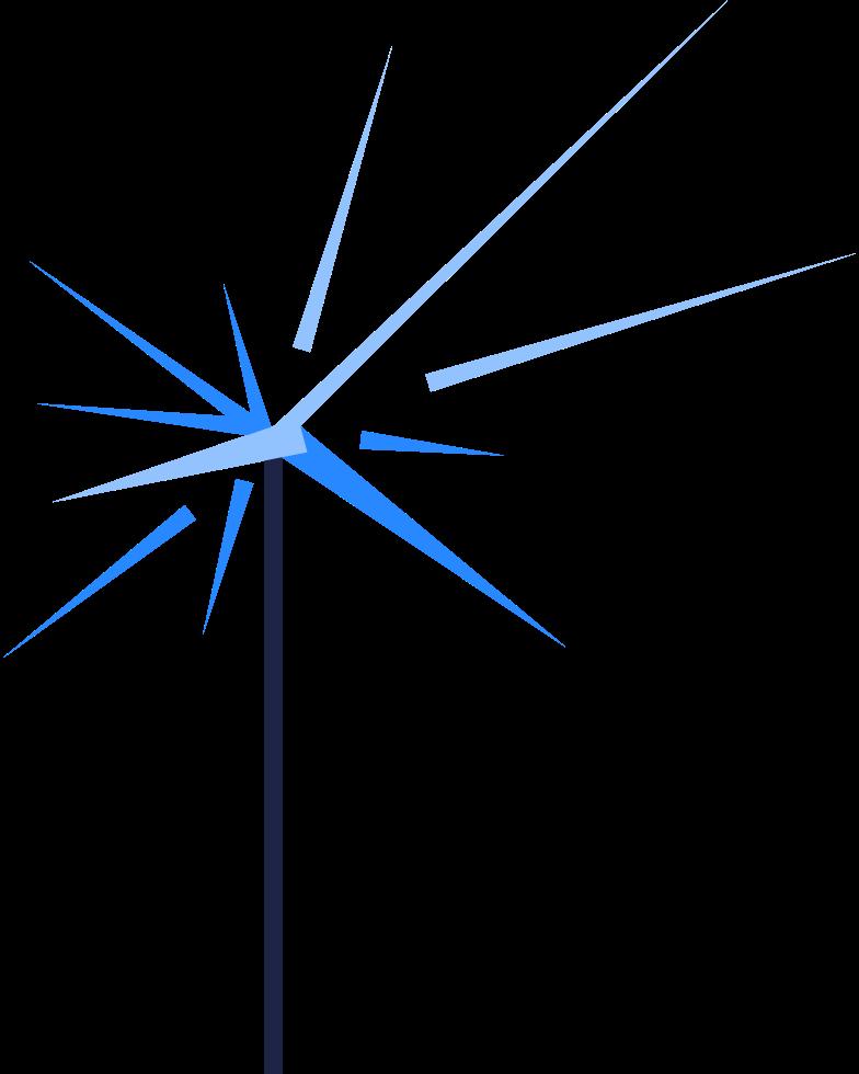 sparklers Clipart illustration in PNG, SVG