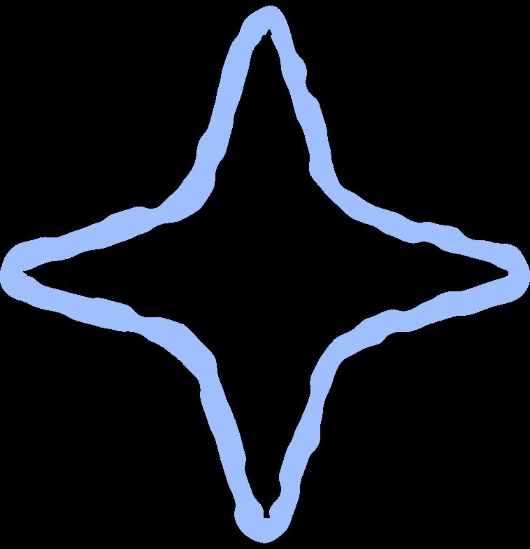 blue star Clipart illustration in PNG, SVG