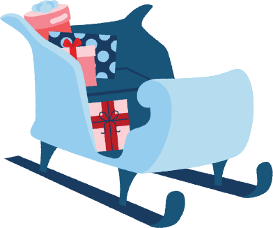 style sleigh with presents images in PNG and SVG | Icons8 Illustrations
