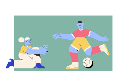 style Playing football images in PNG and SVG | Icons8 Illustrations