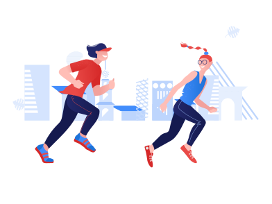 style National running day images in PNG and SVG | Icons8 Illustrations