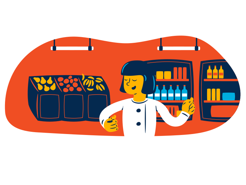 style Supermarket worker  Vector images in PNG and SVG | Icons8 Illustrations