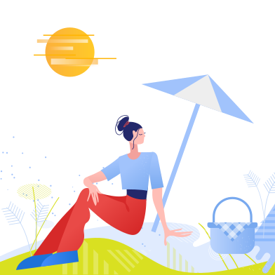 style Woman on a picnic images in PNG and SVG | Icons8 Illustrations