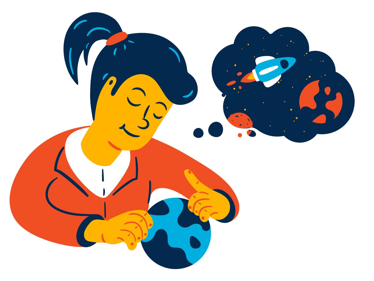 Dreams of space travel Clipart illustration in PNG, SVG