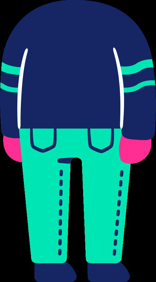 body back Clipart illustration in PNG, SVG
