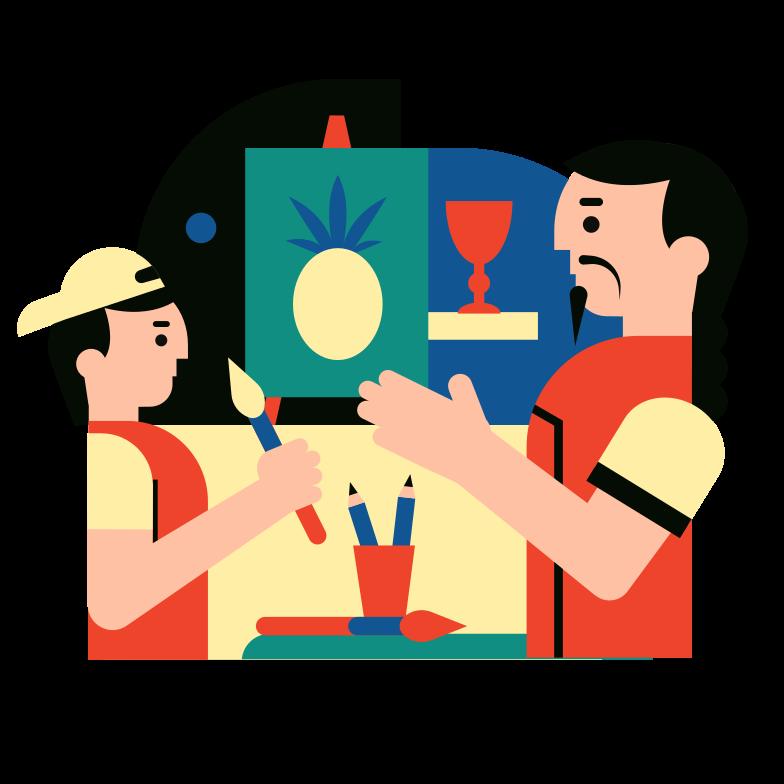 Art school Clipart illustration in PNG, SVG