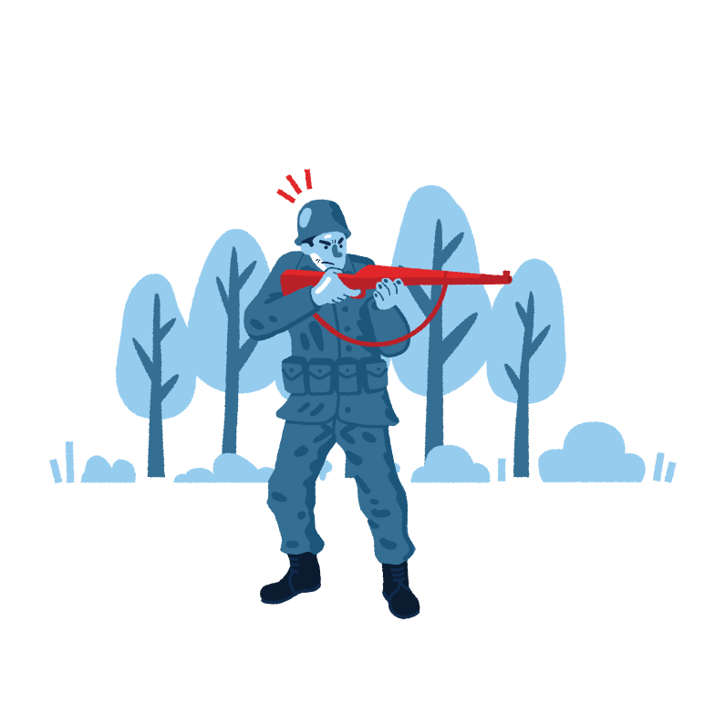 style Soldier with gun Vector images in PNG and SVG | Icons8 Illustrations