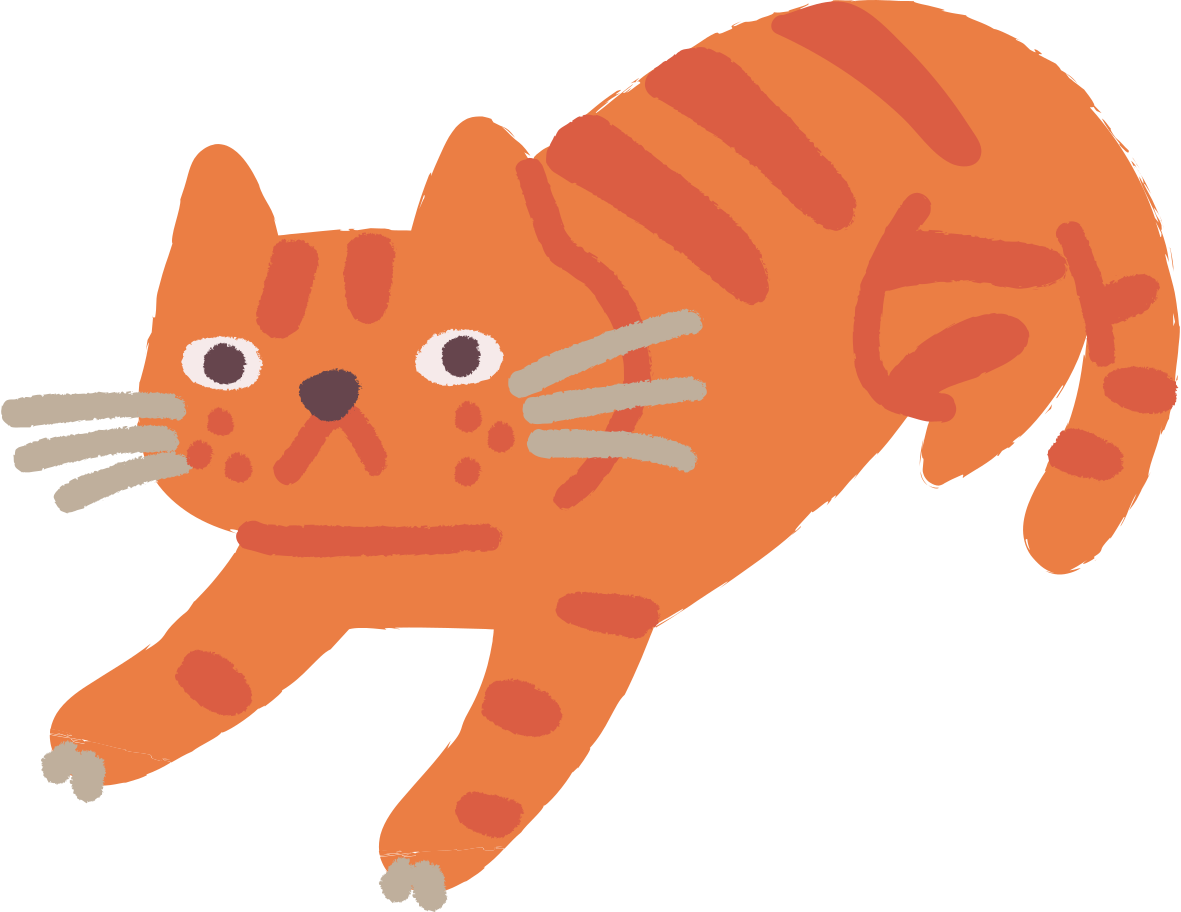 cat lying Clipart illustration in PNG, SVG