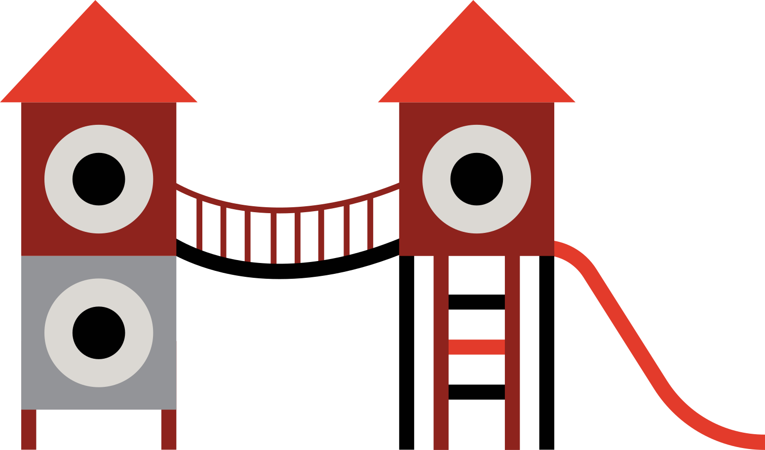 children's playground Clipart illustration in PNG, SVG