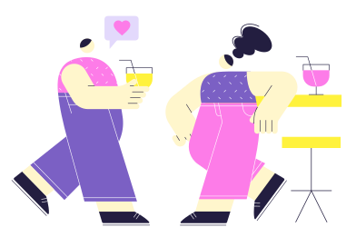 style Date at the bar images in PNG and SVG | Icons8 Illustrations