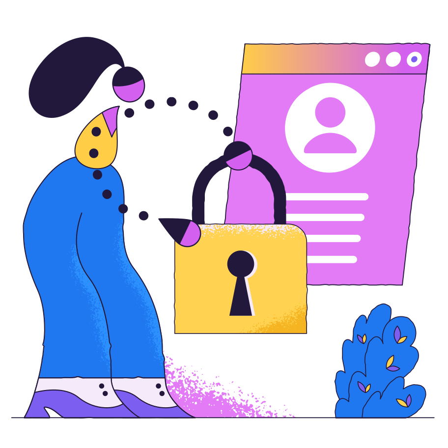 style Confidentiality of information images in PNG and SVG | Icons8 Illustrations