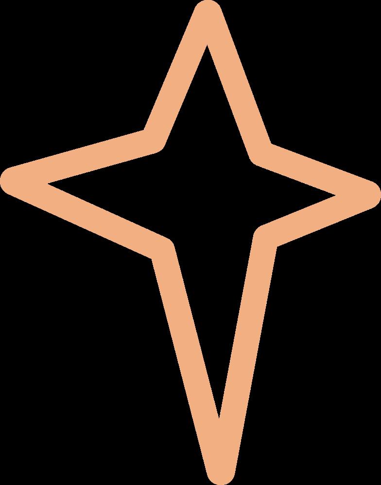 tk star line Clipart illustration in PNG, SVG