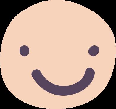 Иллюстрация улыбающееся лицо в стиле  в PNG и SVG | Icons8 Иллюстрации