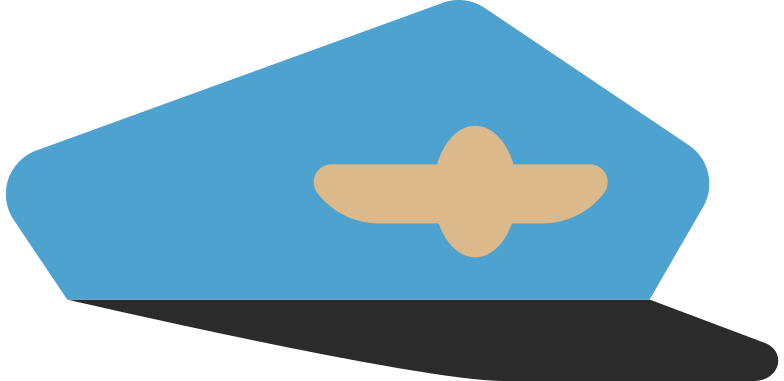 pilot cap Clipart illustration in PNG, SVG