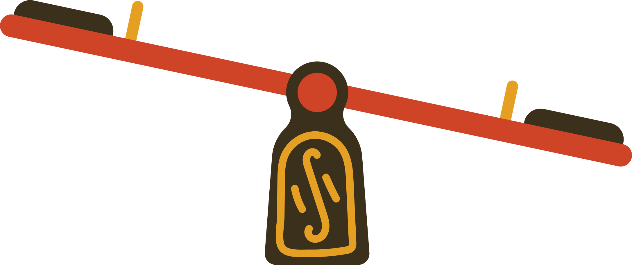 seesaw Clipart illustration in PNG, SVG