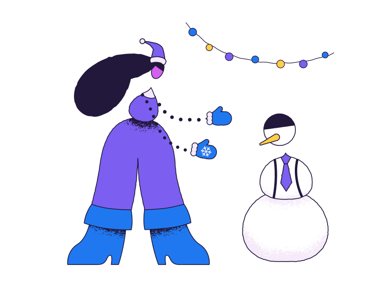 style Let's build the snowman Vector images in PNG and SVG | Icons8 Illustrations