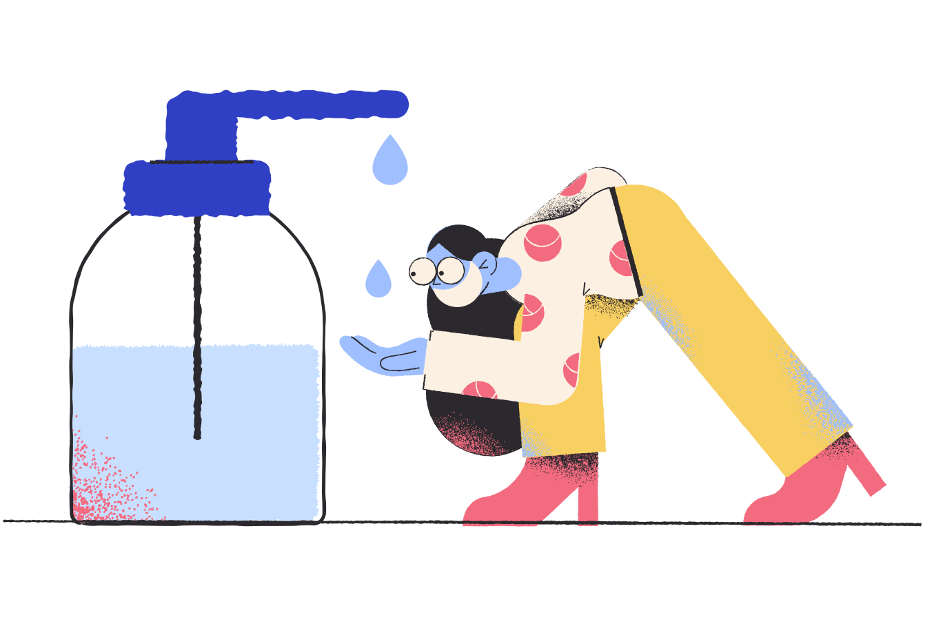 Keep your hands clean Clipart illustration in PNG, SVG