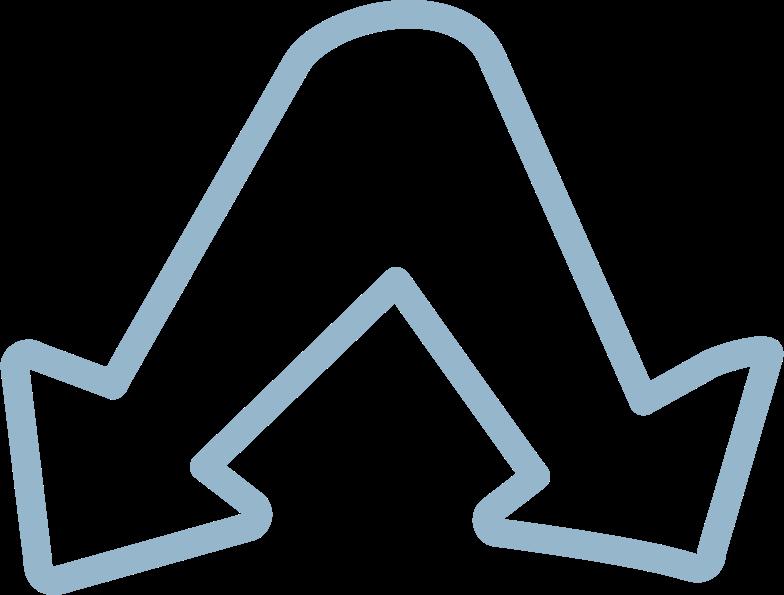 tk 2 blue arrows Clipart illustration in PNG, SVG