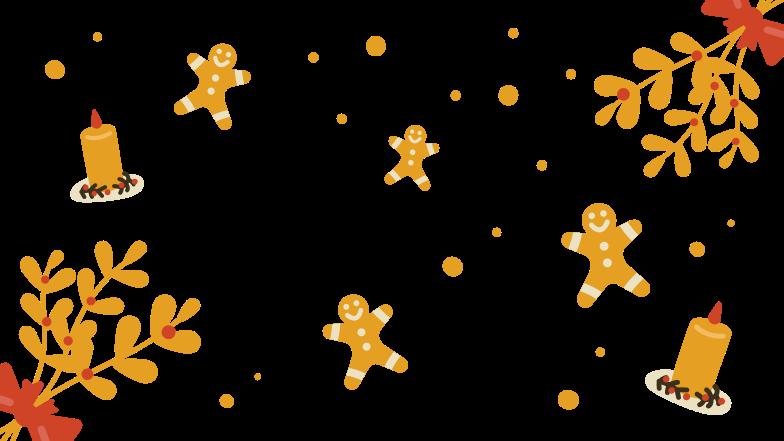 Gingerbread men Clipart illustration in PNG, SVG