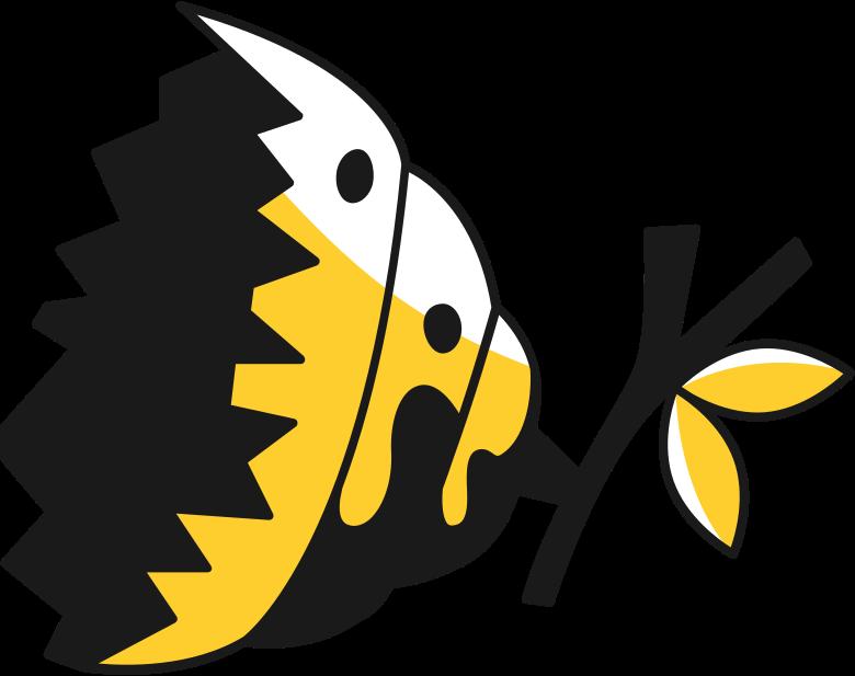 broken hive upper half Clipart illustration in PNG, SVG