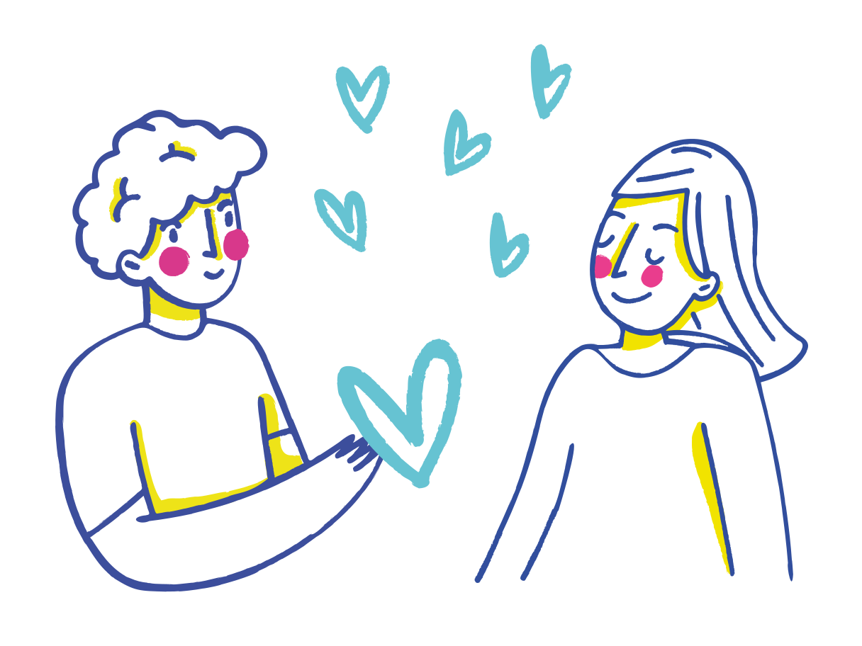 Couple in love  Clipart illustration in PNG, SVG