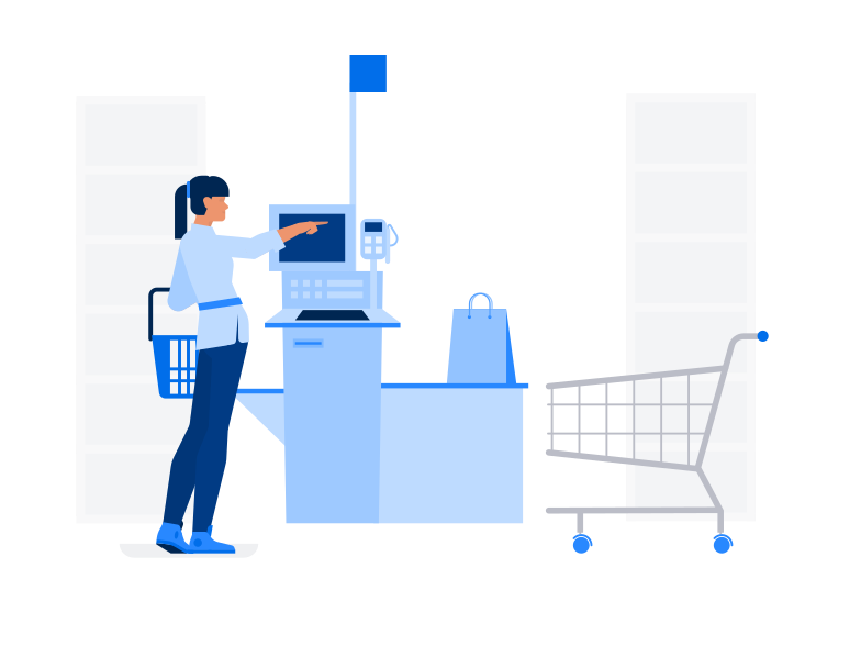 style Self service in supermarket Vector images in PNG and SVG | Icons8 Illustrations