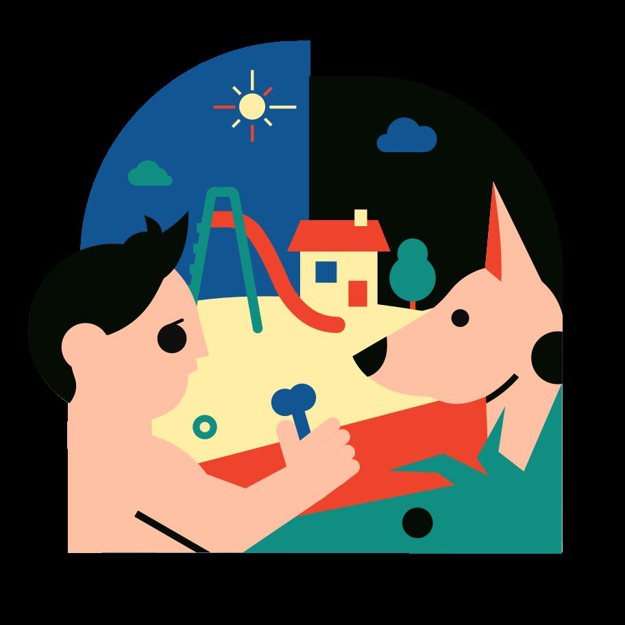 Best friend Clipart illustration in PNG, SVG