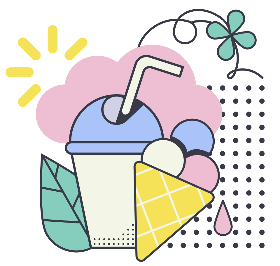 Summer food Clipart illustration in PNG, SVG
