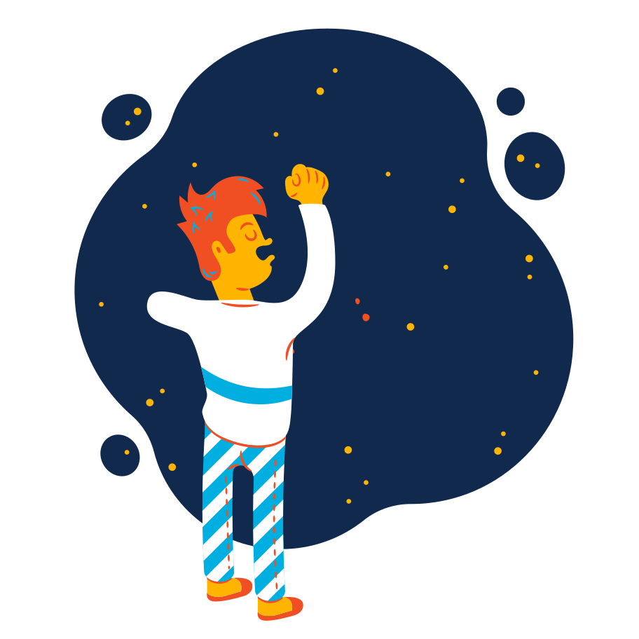 Space dreams Clipart illustration in PNG, SVG