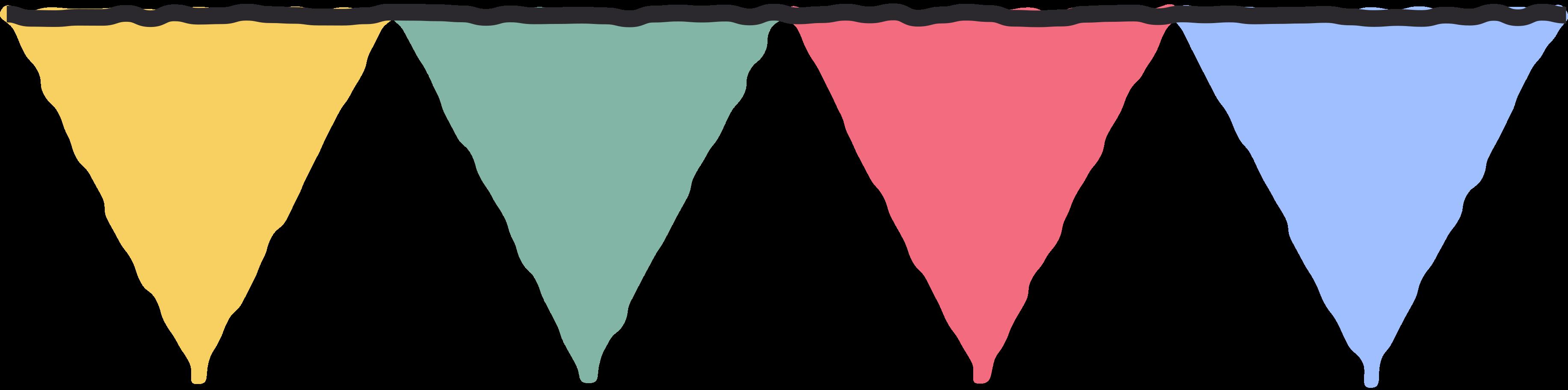 Ilustración de clipart de Banderas de colores en PNG, SVG