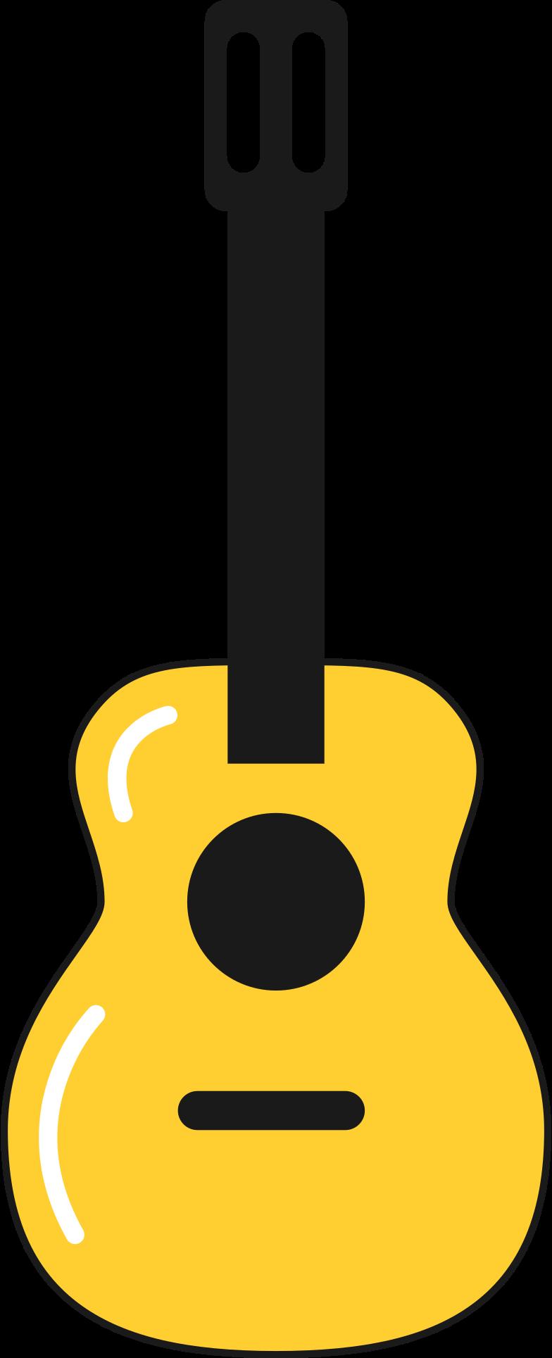 acoustic guitar Clipart illustration in PNG, SVG