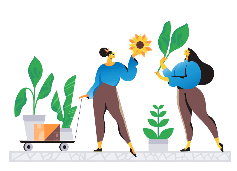 Caring for nature Clipart illustration in PNG, SVG
