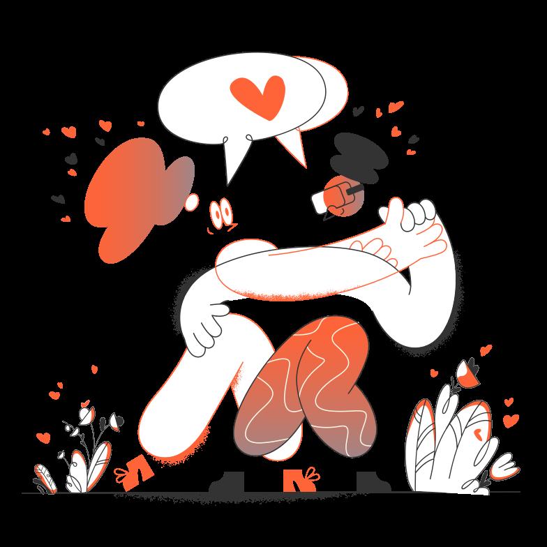 Illustration clipart Histoire d'amour aux formats PNG, SVG