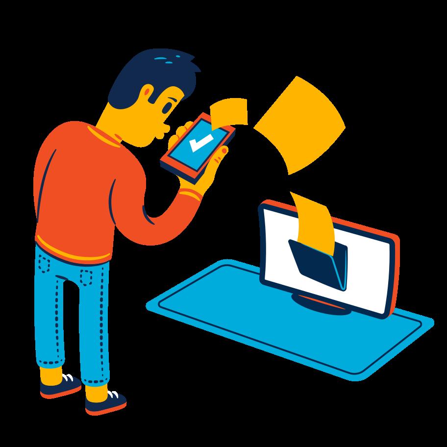 File transfer Clipart illustration in PNG, SVG