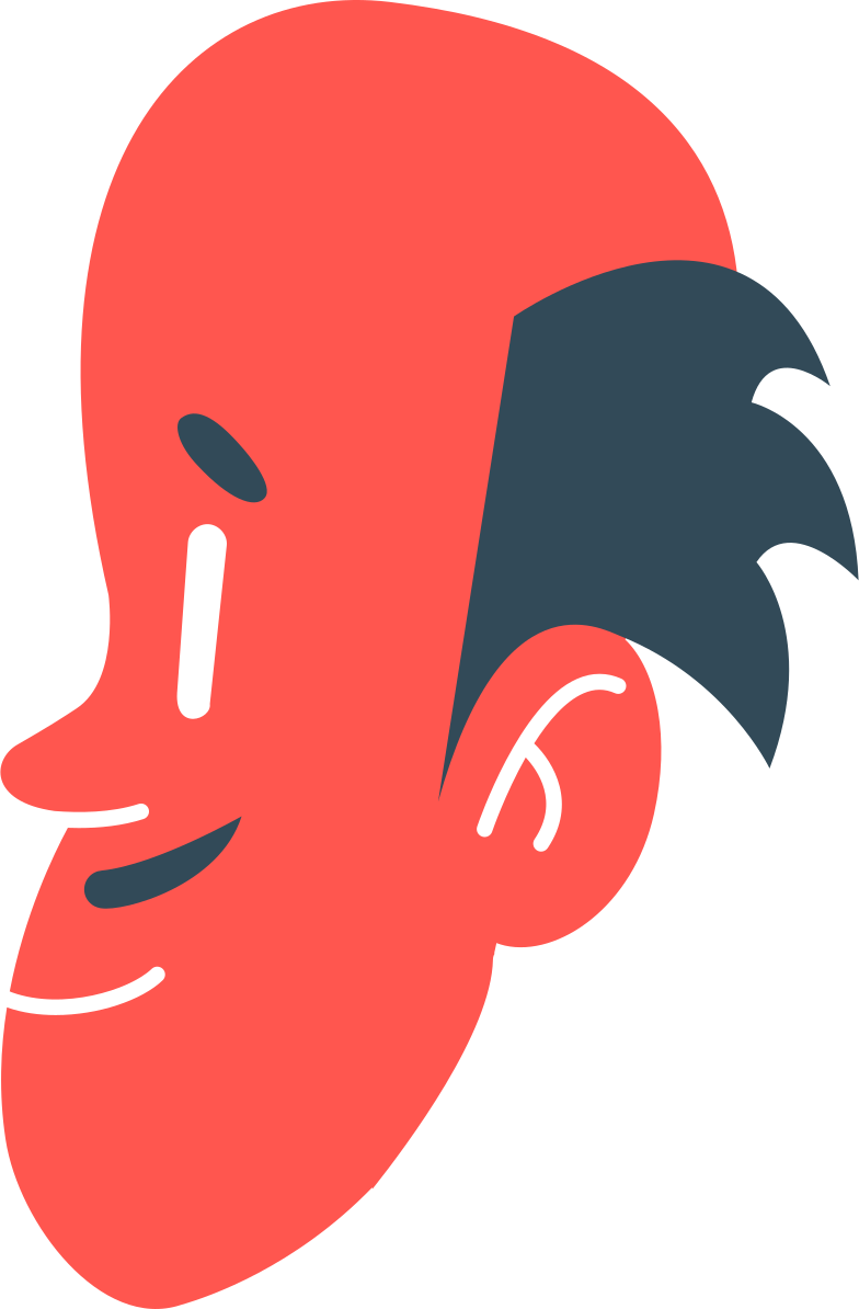 male head Clipart illustration in PNG, SVG