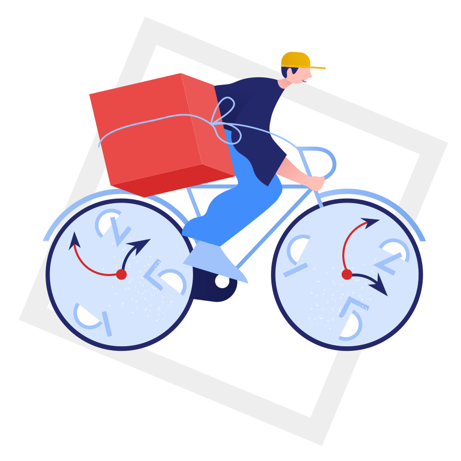 Fast delivery right in time Clipart illustration in PNG, SVG