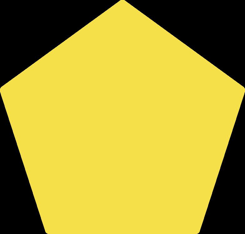 pentagon shape Clipart illustration in PNG, SVG
