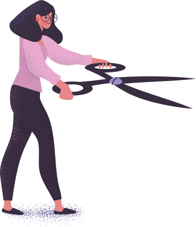 style woman with scissors images in PNG and SVG | Icons8 Illustrations