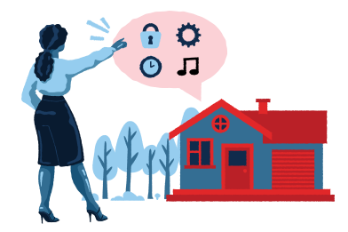 style Smart house interface images in PNG and SVG | Icons8 Illustrations