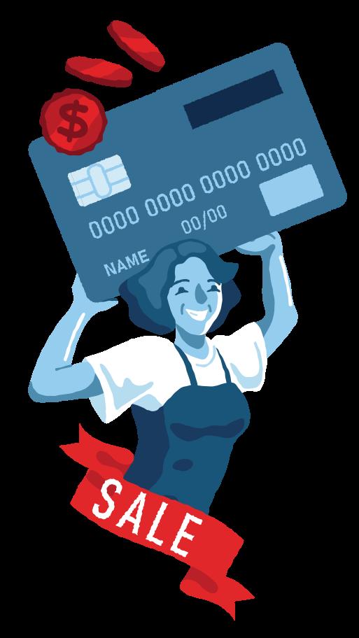 Credit Clipart illustration in PNG, SVG