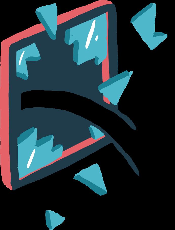 broken window Clipart illustration in PNG, SVG