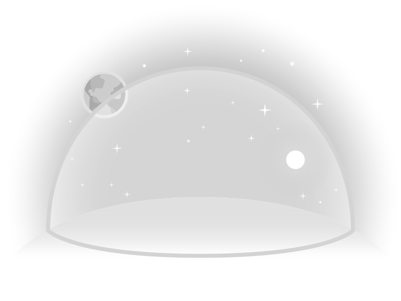 moon lanscape with geodesic dome Clipart illustration in PNG, SVG