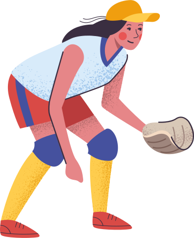 style softball player images in PNG and SVG | Icons8 Illustrations
