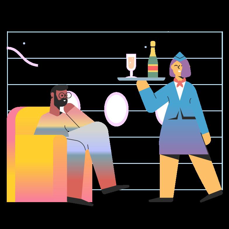 Иллюстрация Бизнес-класс в стиле  в PNG и SVG | Icons8 Иллюстрации