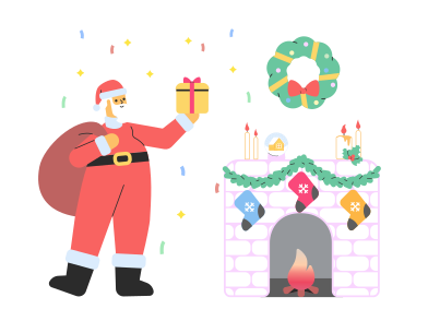 style Santa is here! images in PNG and SVG | Icons8 Illustrations