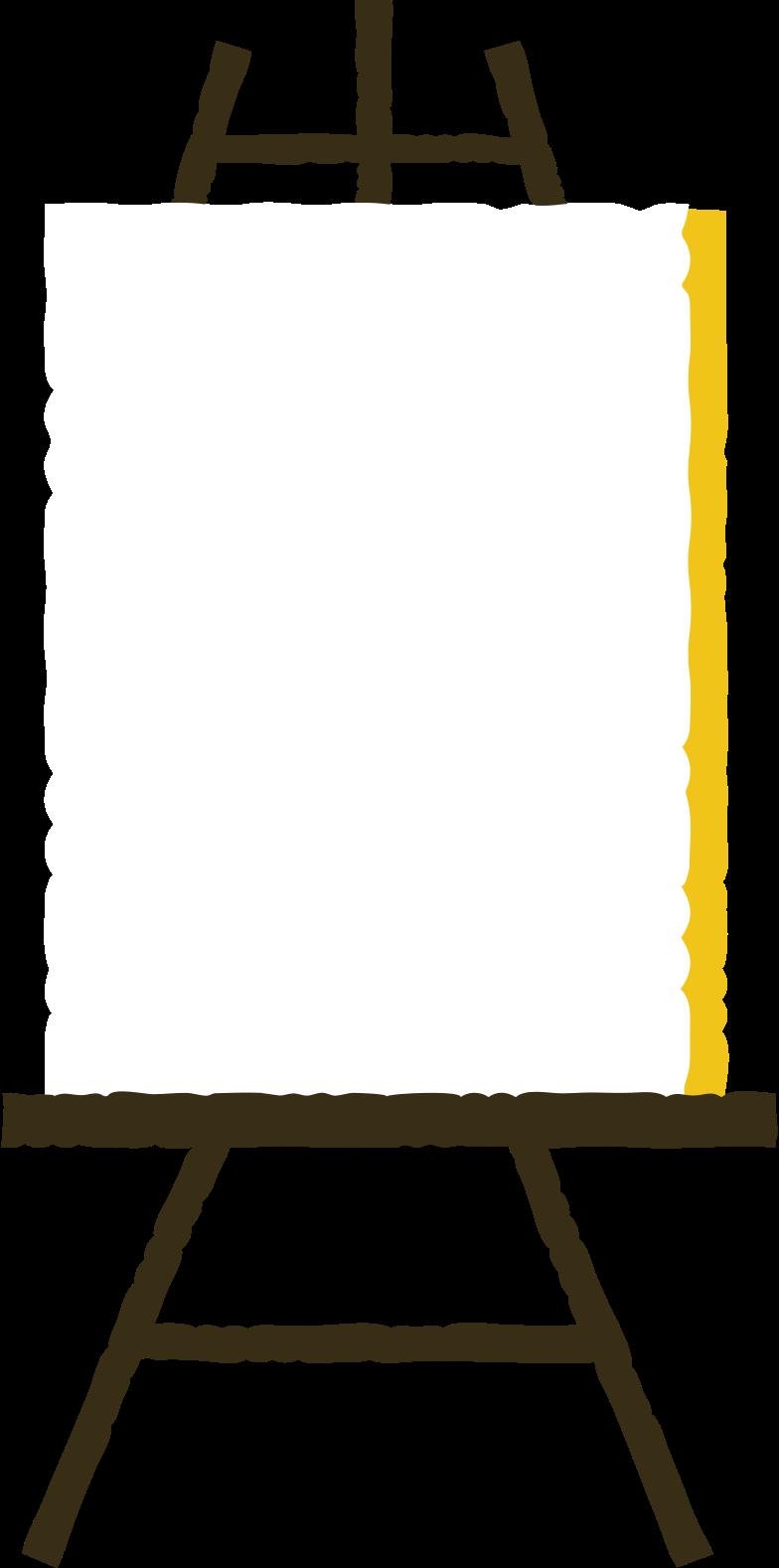 staffelei Clipart-Grafik als PNG, SVG